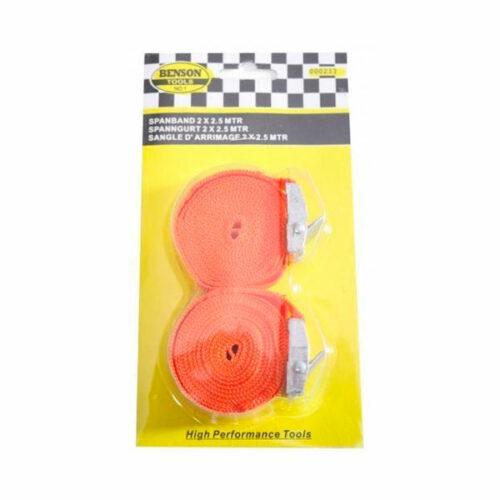 Spanband - Spanbanden - Oranje - 2,5 m - 2 Stuks