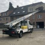 Lichte vracht met verhuislift